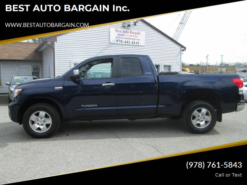 2007 Toyota Tundra for sale at BEST AUTO BARGAIN inc. in Lowell MA