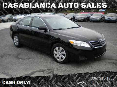 2010 Toyota Camry for sale at CASABLANCA AUTO SALES in Greensboro NC