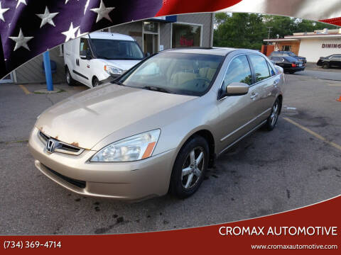 2004 Honda Accord for sale at Cromax Automotive in Ann Arbor MI