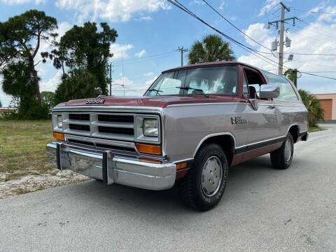 1989 Dodge Ramcharger for sale at American Classics Autotrader LLC in Pompano Beach FL