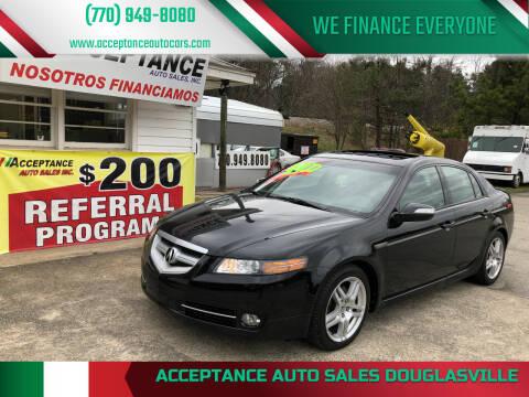 2008 Acura TL for sale at Acceptance Auto Sales Douglasville in Douglasville GA