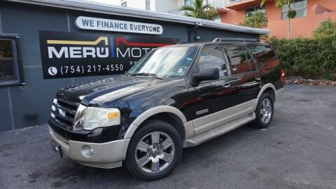 2007 Ford Expedition for sale at Meru Motors in Hollywood FL
