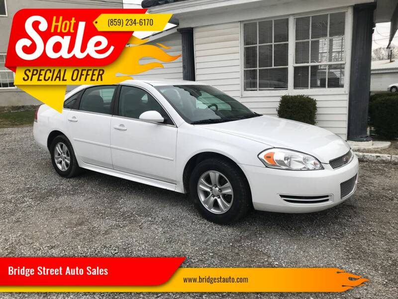 2012 Chevrolet Impala for sale at Bridge Street Auto Sales in Cynthiana KY