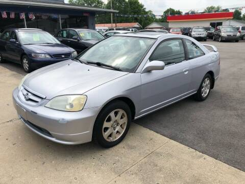 2002 Honda Civic for sale at Wise Investments Auto Sales in Sellersburg IN