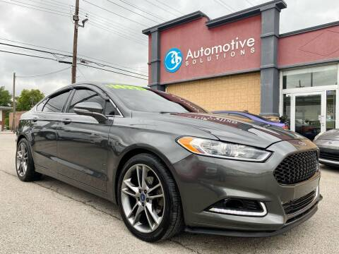 2015 Ford Fusion for sale at Automotive Solutions in Louisville KY