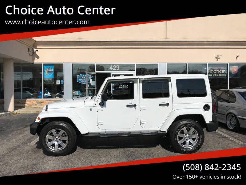 2013 Jeep Wrangler Unlimited for sale at Choice Auto Center in Shrewsbury MA