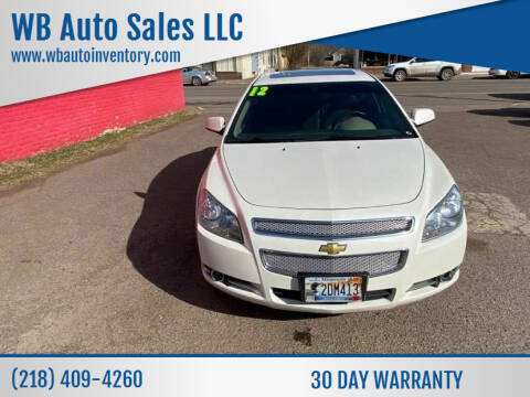 2012 Chevrolet Malibu for sale at WB Auto Sales LLC in Barnum MN