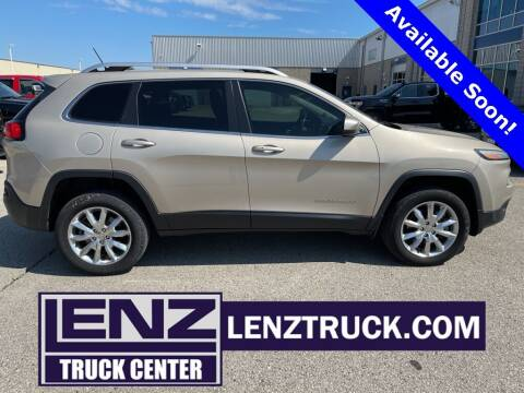 2014 Jeep Cherokee for sale at LENZ TRUCK CENTER in Fond Du Lac WI