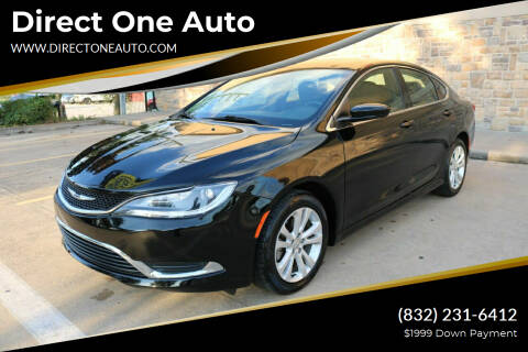 2016 Chrysler 200 for sale at Direct One Auto in Houston TX