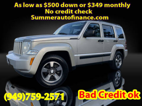 2008 Jeep Liberty for sale at SUMMER AUTO FINANCE in Costa Mesa CA