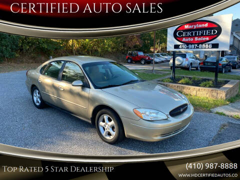 2001 Ford Taurus for sale at CERTIFIED AUTO SALES in Severn MD