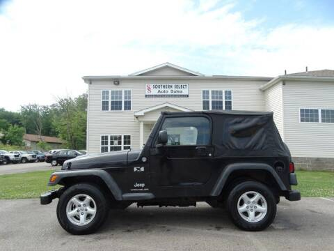 2005 Jeep Wrangler for sale at SOUTHERN SELECT AUTO SALES in Medina OH