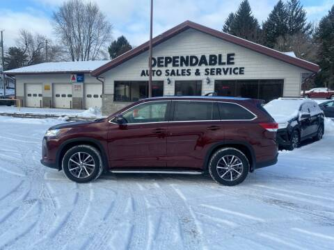 2017 Toyota Highlander for sale at Dependable Auto Sales and Service in Binghamton NY