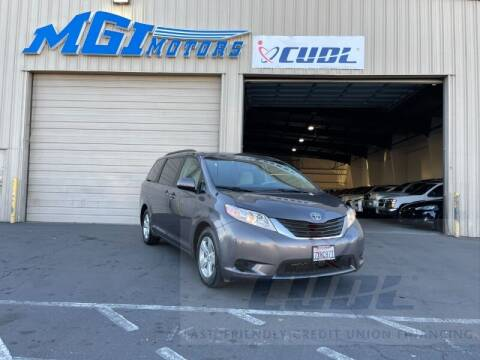 2014 Toyota Sienna for sale at MGI Motors in Sacramento CA