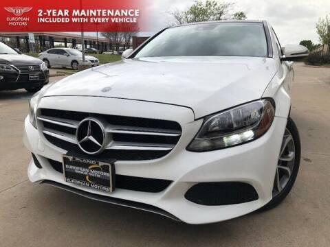 2016 Mercedes-Benz C-Class for sale at European Motors Inc in Plano TX