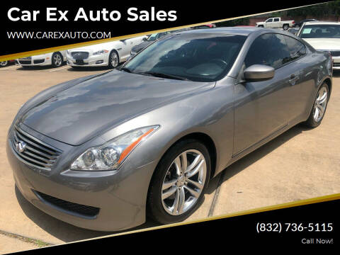 2009 Infiniti G37 Coupe for sale at Car Ex Auto Sales in Houston TX