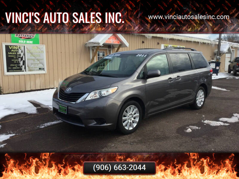 2011 Toyota Sienna for sale at Vinci's Auto Sales Inc. in Bessemer MI