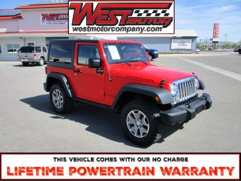 2016 Jeep Wrangler for sale at West Motor Company in Hyde Park UT