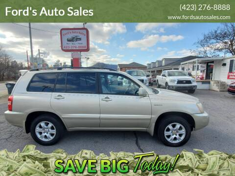 2001 Toyota Highlander for sale at Ford's Auto Sales in Kingsport TN