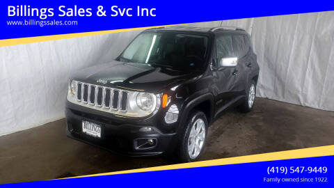 2015 Jeep Renegade for sale at Billings Sales & Svc Inc in Clyde OH