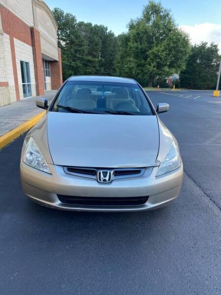 2003 Honda Accord for sale at Dalia Motors LLC in Winder GA