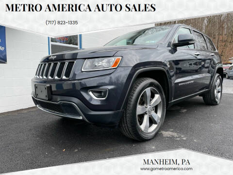 2014 Jeep Grand Cherokee for sale at METRO AMERICA AUTO SALES of Manheim in Manheim PA