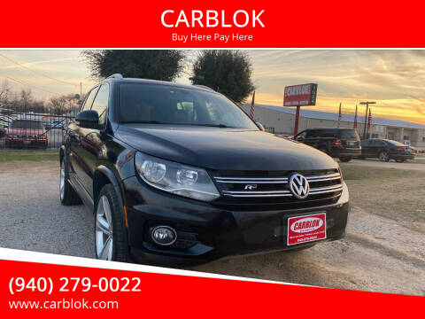2016 Volkswagen Tiguan for sale at CARBLOK in Lewisville TX