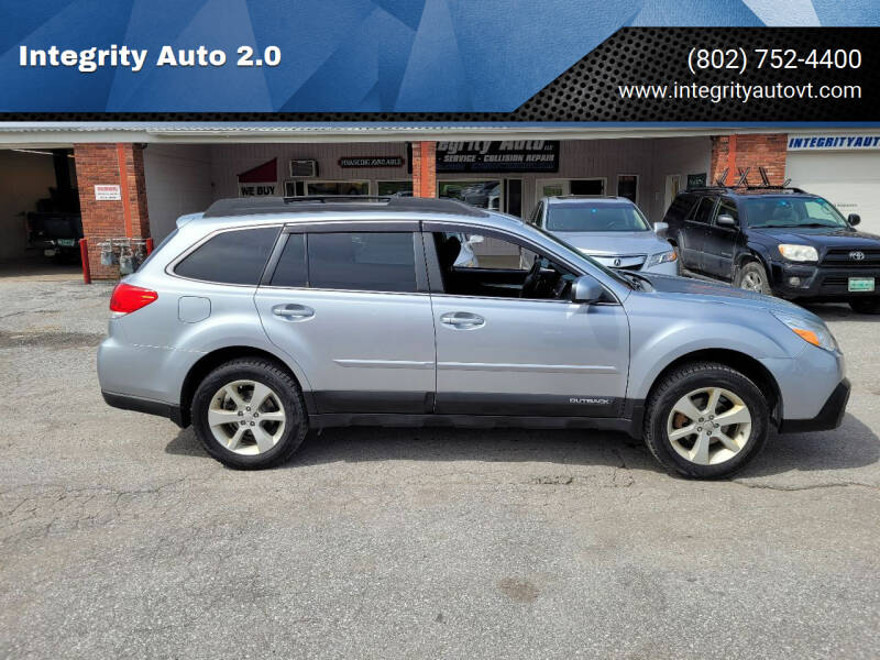2013 Subaru Outback for sale at Integrity Auto 2.0 in Saint Albans VT