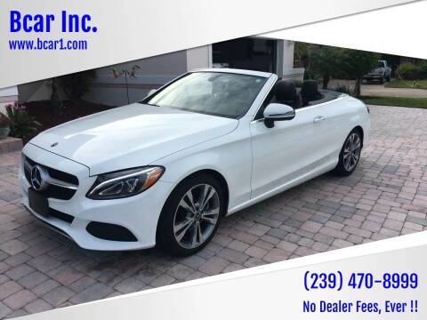 2018 Mercedes-Benz C-Class for sale at Bcar Inc. in Fort Myers FL