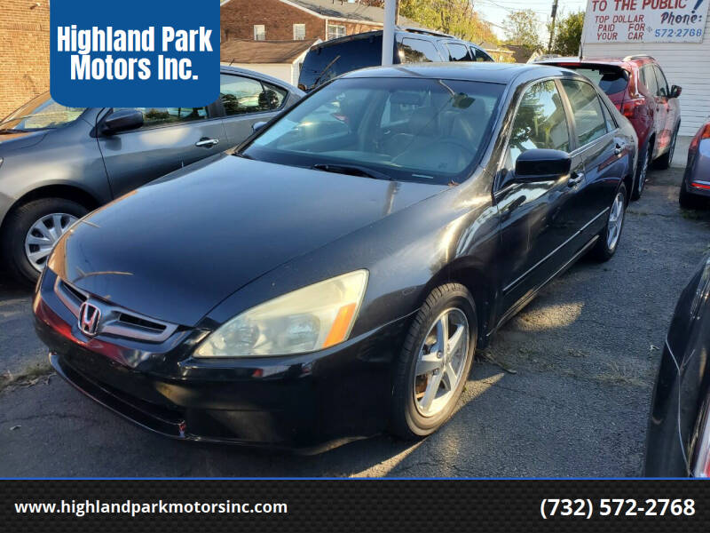 2005 Honda Accord for sale at Highland Park Motors Inc. in Highland Park NJ