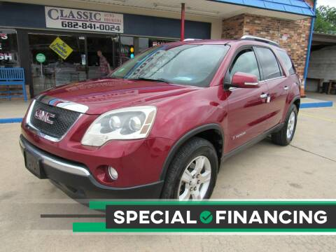 2008 GMC Acadia for sale at Classic Auto Brokers in Haltom City TX