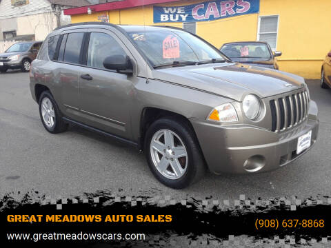 2008 Jeep Compass for sale at GREAT MEADOWS AUTO SALES in Great Meadows NJ