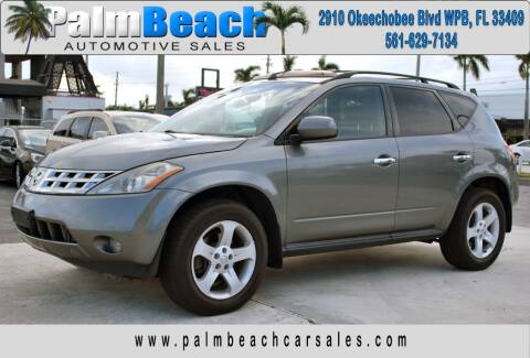 2005 Nissan Murano for sale at Palm Beach Automotive Sales in West Palm Beach FL