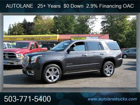 2016 GMC Yukon for sale at Auto Lane in Portland OR