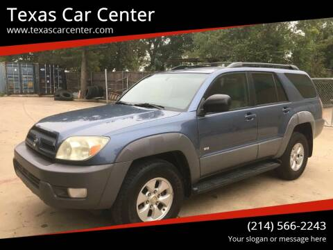 2003 Toyota 4Runner for sale at Texas Car Center in Dallas TX