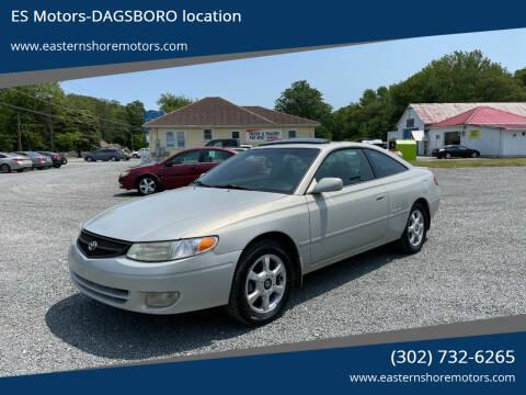 2000 Toyota Camry Solara for sale at ES Motors-DAGSBORO location in Dagsboro DE
