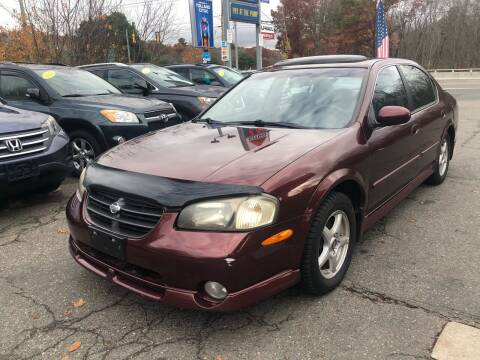 2001 Nissan Maxima for sale at TOLLAND CITGO AUTO SALES in Tolland CT