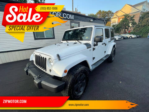 2012 Jeep Wrangler Unlimited for sale at ZIPMOTOR.COM in Arlington VA