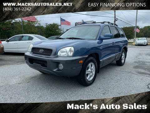 2003 Hyundai Santa Fe for sale at Mack's Auto Sales in Forest Park GA