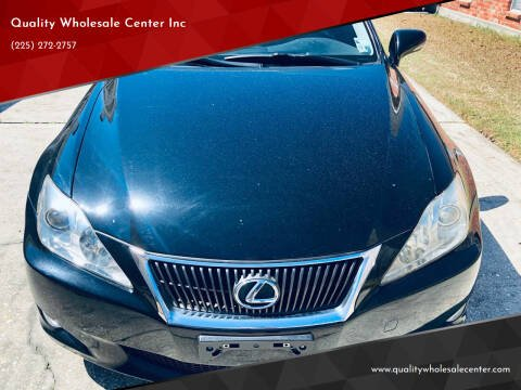 2009 Lexus IS 350 for sale at Quality Wholesale Center Inc in Baton Rouge LA