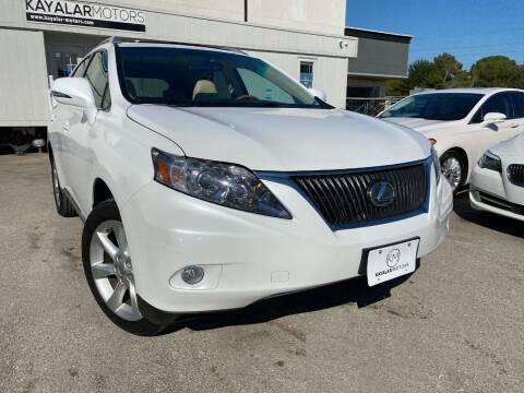 2010 Lexus RX 350 for sale at KAYALAR MOTORS in Houston TX