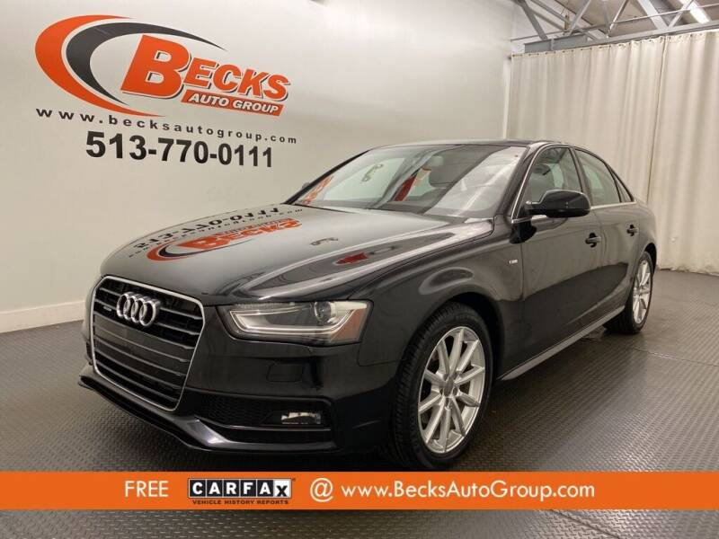 2015 Audi A4 for sale at Becks Auto Group in Mason OH