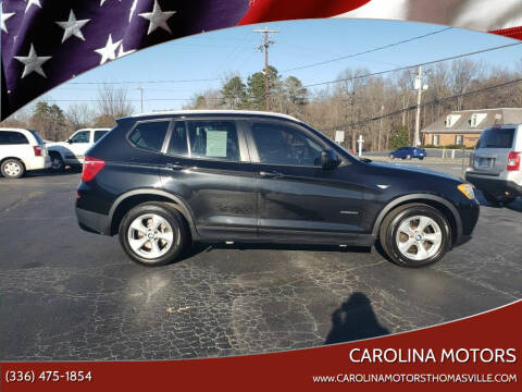 2011 BMW X3 for sale at CAROLINA MOTORS in Thomasville NC