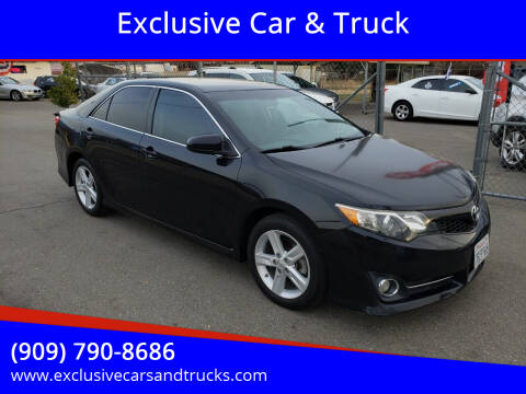 2013 Toyota Camry for sale at Exclusive Car & Truck in Yucaipa CA