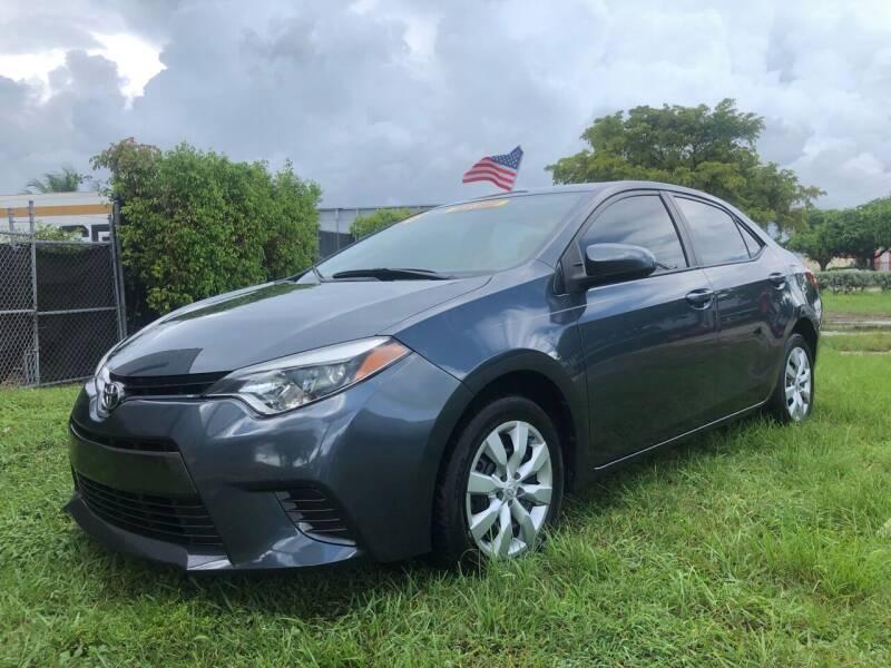 2016 Toyota Corolla for sale at Prestige Auto Trader in Miami FL