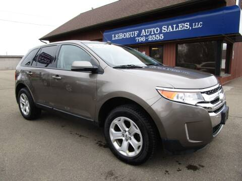 2012 Ford Edge for sale at LeBoeuf Auto Sales in Waterford PA