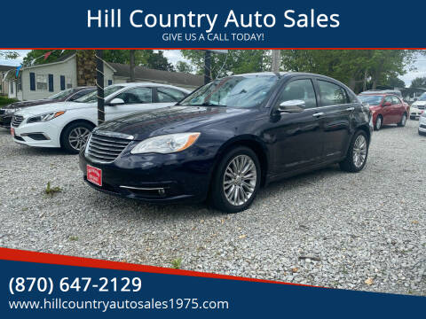 2012 Chrysler 200 for sale at Hill Country Auto Sales in Maynard AR