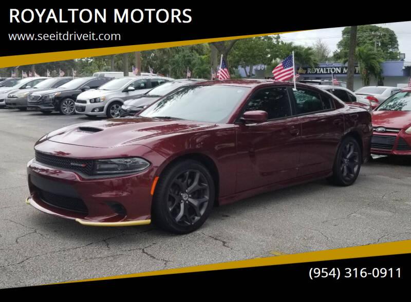 2019 Dodge Charger for sale at ROYALTON MOTORS in Plantation FL