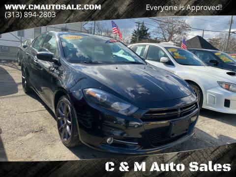 2016 Dodge Dart for sale at C & M Auto Sales in Detroit MI