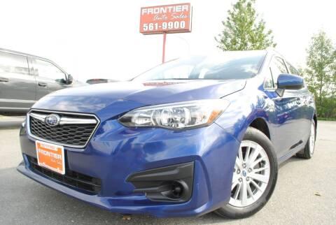 2018 Subaru Impreza for sale at Frontier Auto & RV Sales in Anchorage AK